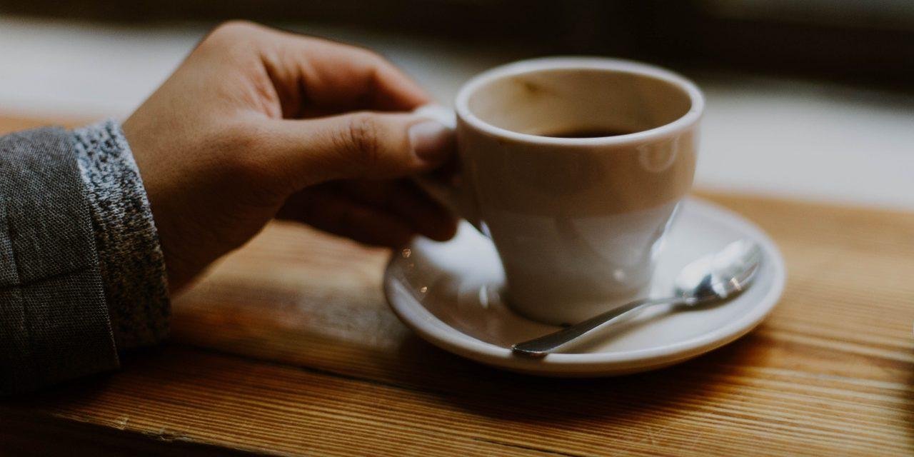 Genieten van m'n koffie.